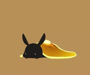 black, bunny, and pancakes image