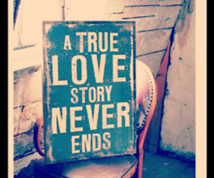 love, true, and end image