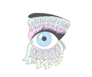 eyes, overlay, and pastel image