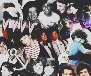 Collage, larry, and love image