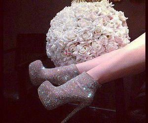 shoes, flowers, and rose image