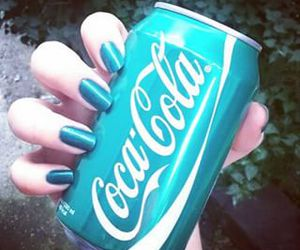 nails, blue, and coca cola image