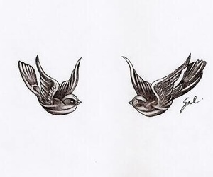 Harry Styles, bird, and tattoo image
