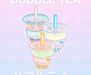 pastel, bubble tea, and pink image