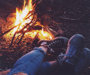 converse, fire, and grunge image