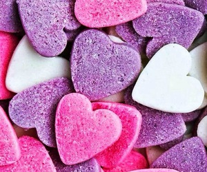 wallpaper, pink, and hearts image