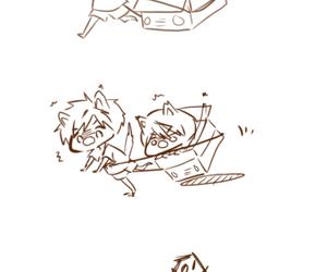 neko, rin, and makoto image