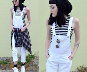 grunge, lookbook, and striped top image