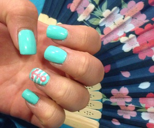 summer, aqua, and nails image