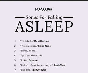 asleep, relax, and song image