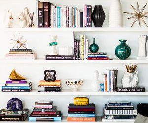 art, bookcase, and books image