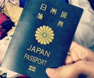 japan and passport image