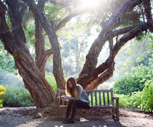 girl, beautiful, and tree image