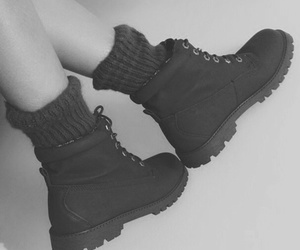 autum, black, and boots image