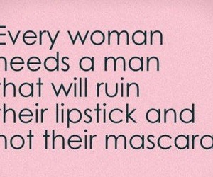 lipstick, mascara, and quotes image