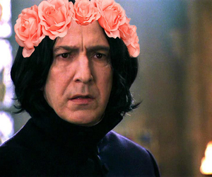 flower crown, severus snape, and harry potter image