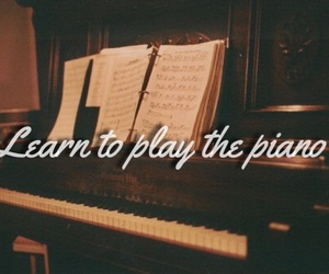 learn, piano, and to do image