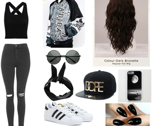 adidas, adidas jacket, and cap image