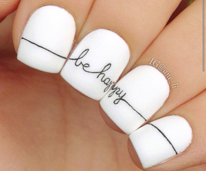nails, be happy, and white image
