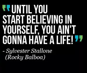 rocky, movie, and quote image