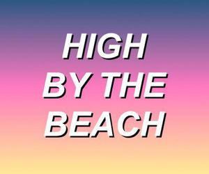honeymoon, lana del rey, and high by the beach image