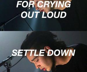 Lyrics, settle down, and the 1975 image