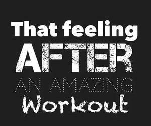 workout, fitness, and feeling image