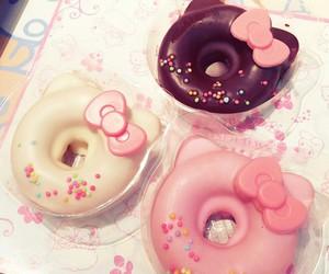 pink, donuts, and kawaii image