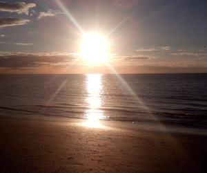 atardecer, beach, and sol image