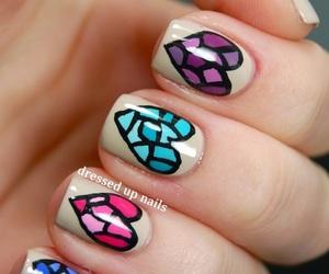 nails, heart, and nail art image