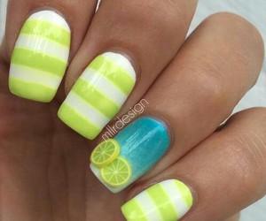nails, lemon, and yellow image