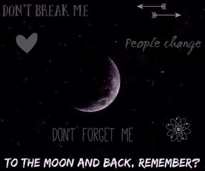 moon, dont forget me, and dont let me fall image