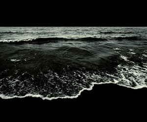 sea, black, and dark image