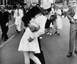 kiss, love, and black and white image