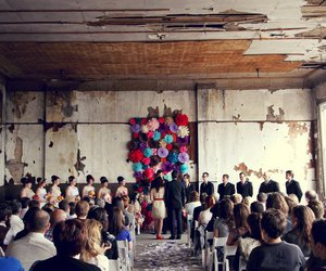 bride, hall, and wedding image