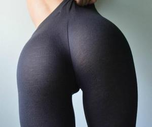 black, Hot, and leggins image