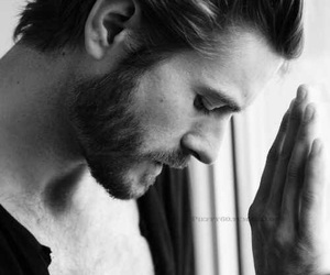 boy, beard, and black and white image