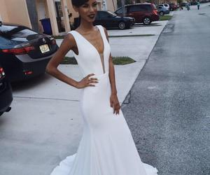 Prom, white, and dress image
