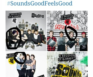 album cover, funny, and 5 seconds of summer image