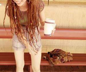 dreadlocks, hair, and hippie image