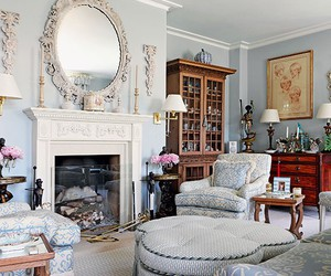 chic, interior, and living room image