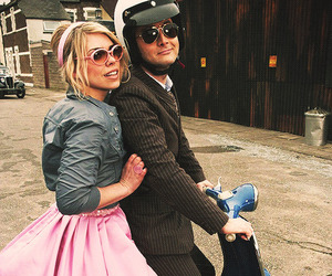 david tennant, rose tyler, and doctor who image