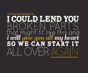 one direction, over again, and Lyrics image