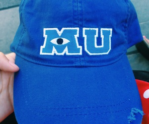 hat, monsters inc, and monster university image