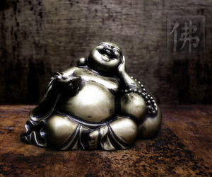 Buddha, laughing, and statue image