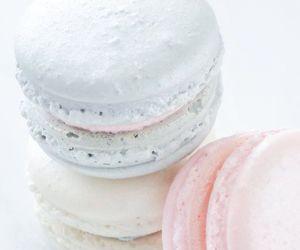 macaroons, pastel, and sweet image