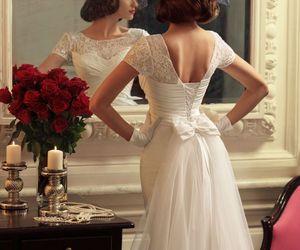 beautiful, retro, and wedding image