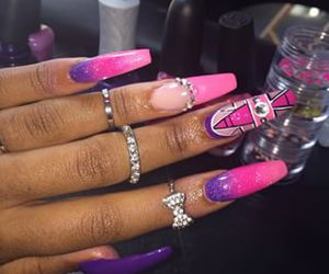 colorful, nail inspiration!, and jewelry image