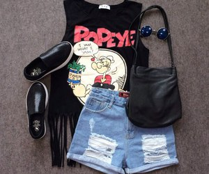 outfit, fashion, and popeye image