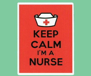 keep calm, labels, and nurses image